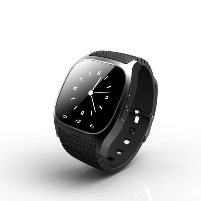 smart watch montre intelligente connect e bluetooth iphone android samsung achat montre. Black Bedroom Furniture Sets. Home Design Ideas