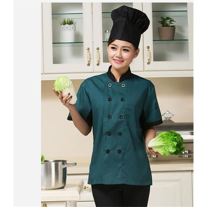 waiwaizui t shirt cuisine taille xl veste homme et veste femme cuisinier uniforme de travail. Black Bedroom Furniture Sets. Home Design Ideas