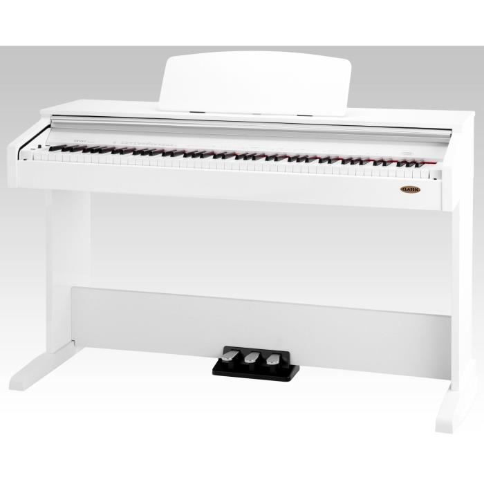 Classic cantabile dp 210 wh piano lectrique blanc for Piano electrique