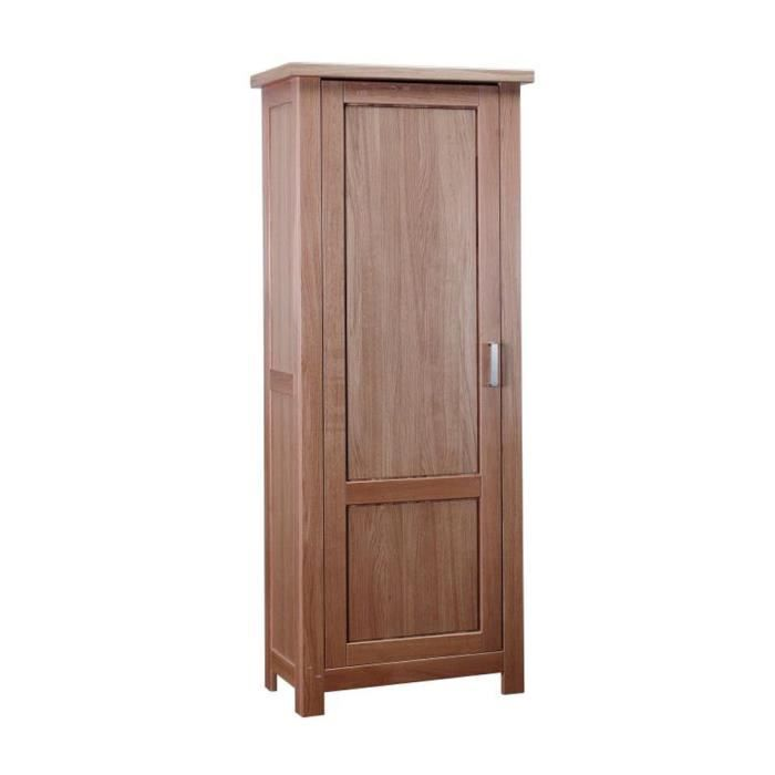 armoire bonneti re en bois de ch ne massif 1 p achat vente bonnetiere armoire bonneti re. Black Bedroom Furniture Sets. Home Design Ideas