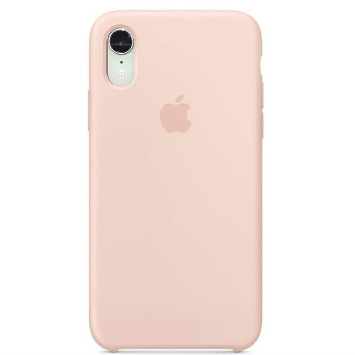 apple coque en silicone iphone xr 6 1 rose d