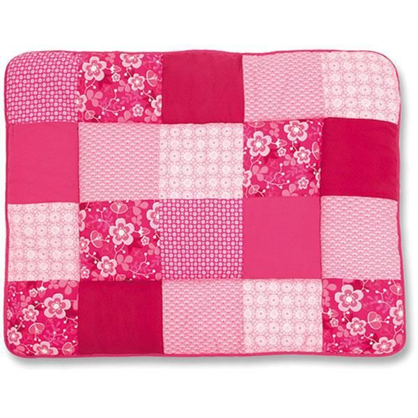 tapis de parc b b 75x95cm patchwork akimi fushia rose achat vente tapis dalles de parc. Black Bedroom Furniture Sets. Home Design Ideas