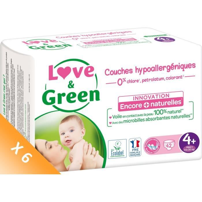 COUCHE LOVE AND GREEN Couches écolabellisées T4+ - 252 co