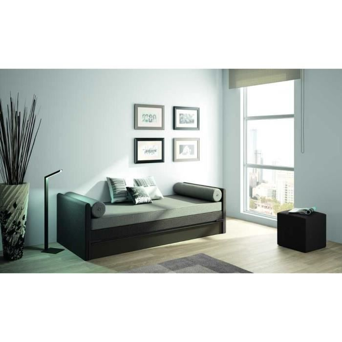 banquette lit gigogne adulte 2 matelas 90x190 achat vente lit gigogne cdiscount. Black Bedroom Furniture Sets. Home Design Ideas