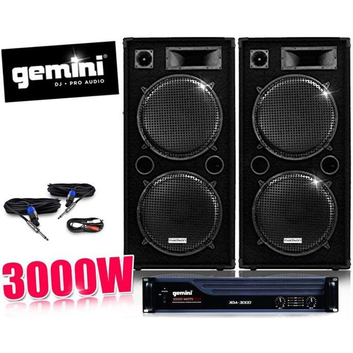 pack dj sono ampli gemini enceintes 2x 1000w pack sono avis et prix pas cher cdiscount. Black Bedroom Furniture Sets. Home Design Ideas