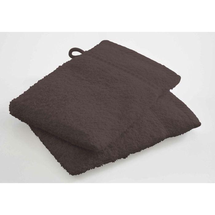 GANT DE TOILETTE Lot de 2 gants 16x21cm CACAO 100% coton 500gr/m2