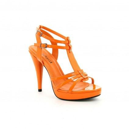 83fcf4c40fa238 Chaussure femme Sandale COSMO Orange - Achat / Vente Chaussure femme ...