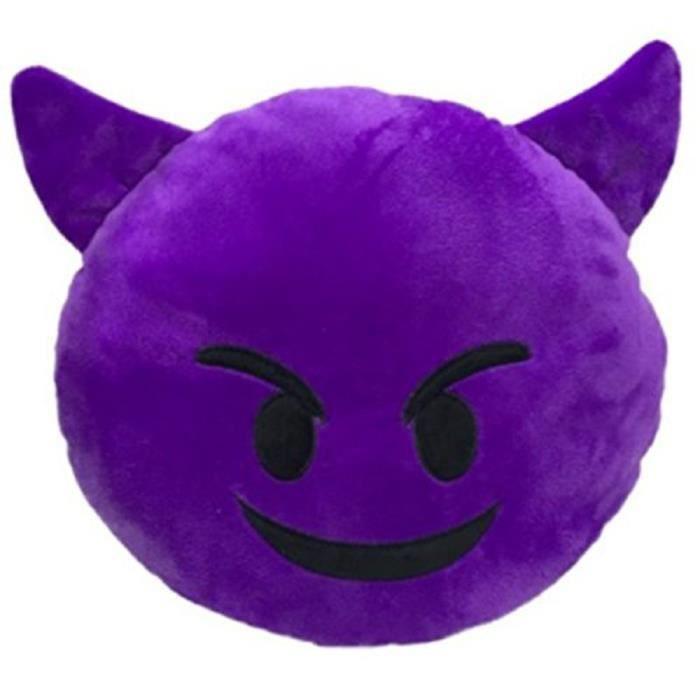 Emoji Diable Coussin Emoticone Enerve En Colere Coussins Et Accessoires Coussins