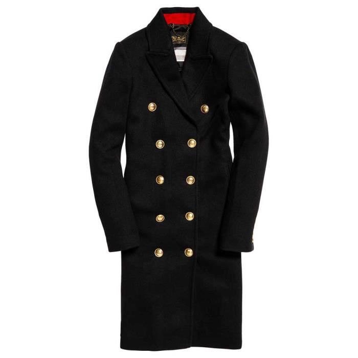 Manteaux Priya Military Long Vêtements Superdry Gris Femme Kc3JTlF1