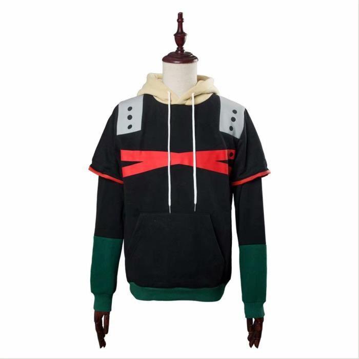 Mon héros Academia bakugou Katsuki Zip Pull Imprimé Sweat à capuche Hommes Sweat-shirt Manteau