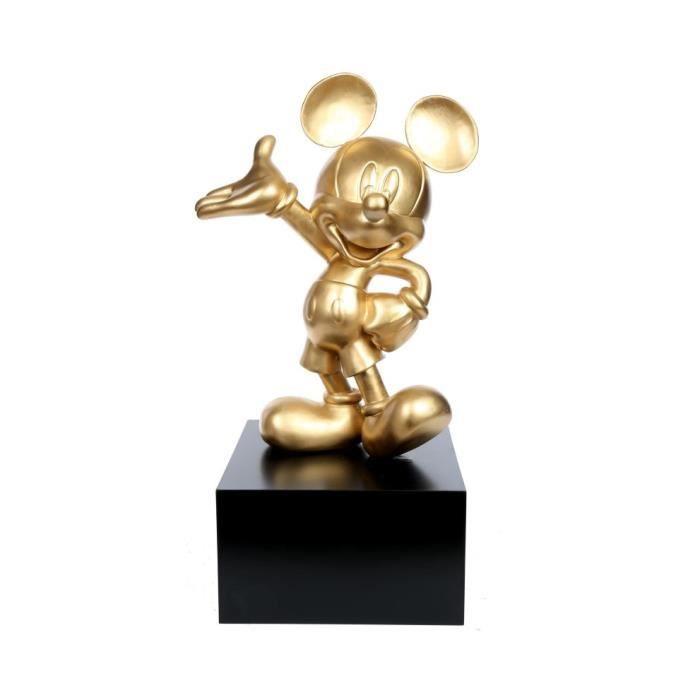 STATUE - STATUETTE Statue Mickey en résine couleur or 80 cm H 80 L 37