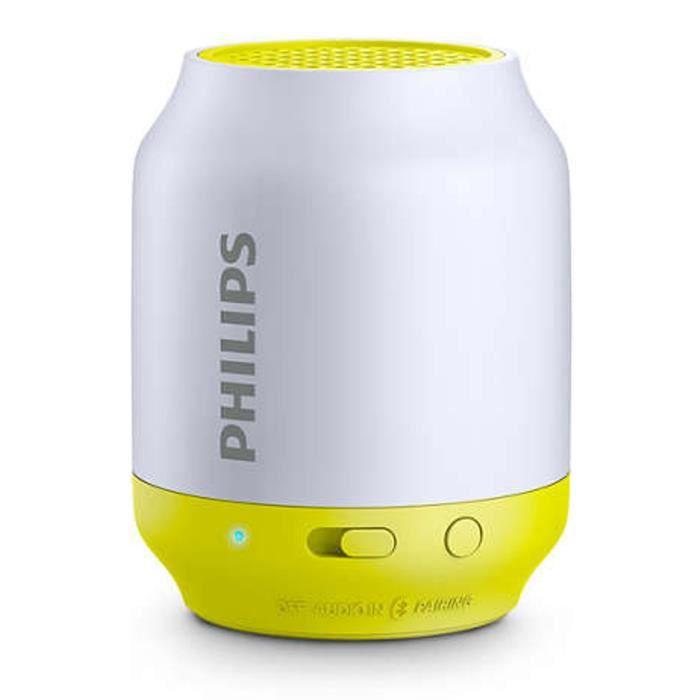 philips bt50l enceinte portable sans fil bluetooth 2w gris jaune enceintes avis et prix pas. Black Bedroom Furniture Sets. Home Design Ideas