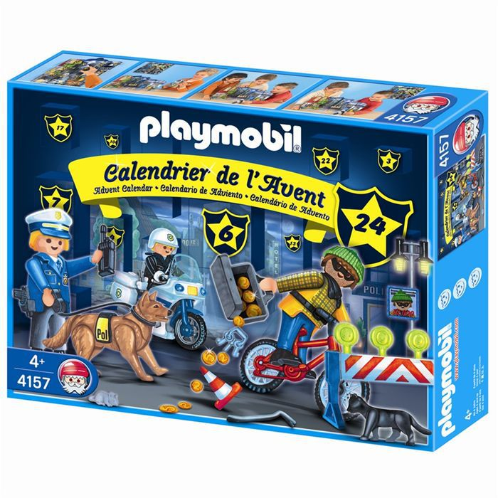playmobil calendrier de l 39 avent policiers achat. Black Bedroom Furniture Sets. Home Design Ideas