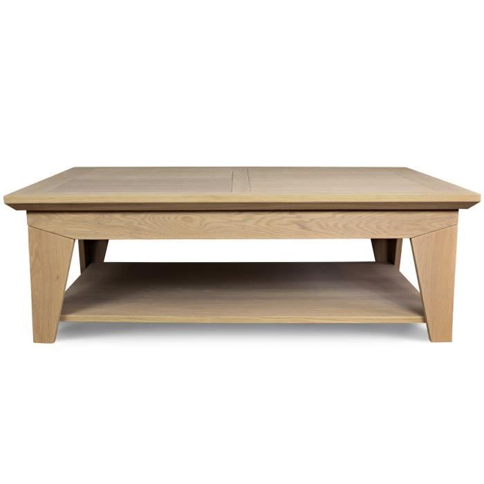 Table basse en ch ne massif amande carbone achat vente for Table basse en chene massif
