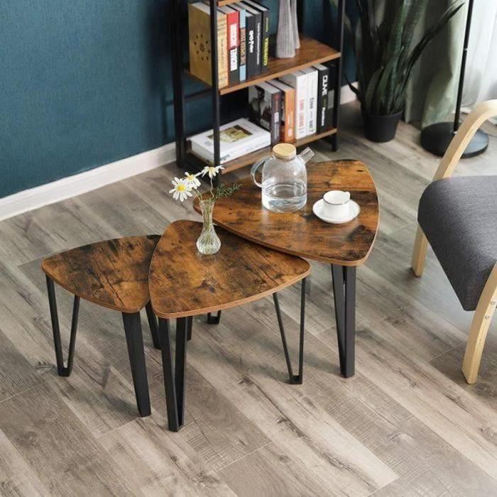 Ensemble meubles salon industriel