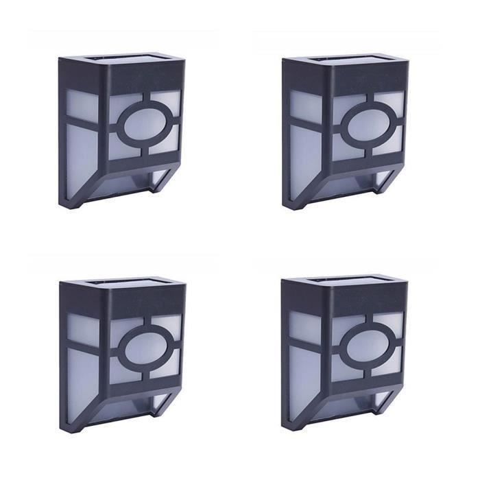 4x lampe solaire d tecteur de mouvement tanche r sistant la chaleur sans fil clairage de. Black Bedroom Furniture Sets. Home Design Ideas
