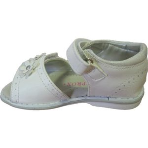 Sandales blanches et roses pour layettes tMDZXaD