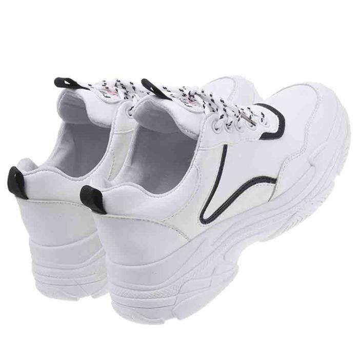 Sneaker Jusqu'à Coins Mesdames Femmes Bout Solide love8089 Blanc Rond Mocassins Lace Casual wRY0A