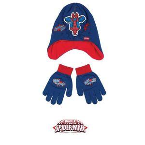 BONNET - CAGOULE SPIDERMAN Lot de Bonnet + gants - Enfant Garçon