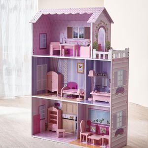 MAISON POUPÉE Maison de poupée en bois pour enfant fille jouet T