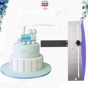 """16/"""" givrage Ruler en Acier Inoxydable Straight Edge Décoration Gâteau Pour Royal Icing"""