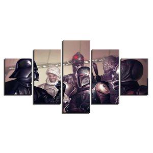TABLEAU - TOILE Toile tableaux imprimés 5 panneaux Star Wars Movie