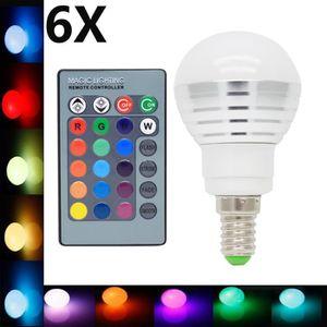 AMPOULE - LED 6X E14 RGB Ampoule Multicolore 3W RGB LED 16 Chang