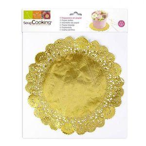 NAPPE DE TABLE Supports à pâtisserie napperons dorés Décorez votr