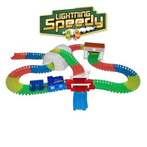 CIRCUIT Lightning Speedy Blue la loco, train lumineux avec