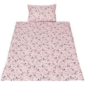 rose//blanc carreaux vichy 100/% coton Wellyou Parure de lit pour enfant