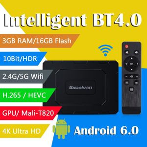 BOX MULTIMEDIA Excelvan EX-T2 Smart TV Box 3Go+16Go HD 4K Android