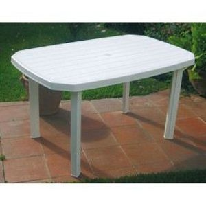 meuble table moderne table de jardin en plastique blanc. Black Bedroom Furniture Sets. Home Design Ideas
