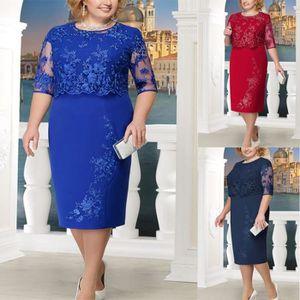 Elegant KOUCLA dames dentelle fendue Cocktail robe de fete robe de soirée XS S M L