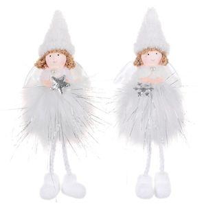 Aboofan Lot de 8 d/écorations d/'anges transparents pour sapin de No/ël