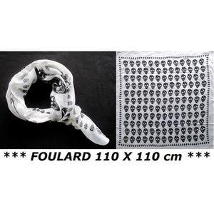 ECHARPE - FOULARD FOULARD CHECHE PIRATE TETE DE MORT TAILLE XXL (110