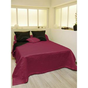 couvre lit satin achat vente couvre lit satin pas cher cdiscount. Black Bedroom Furniture Sets. Home Design Ideas
