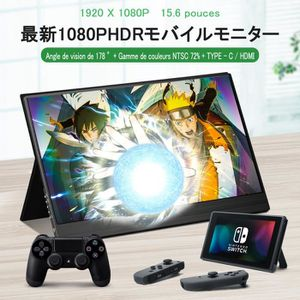 ECRAN ORDINATEUR Moniteur Portable 15,6 '' HDMI 1080P Dalle Gaming