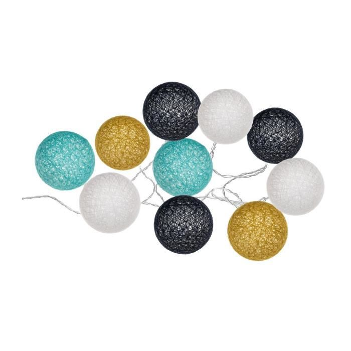 Atmosphera - Guirlande lumineuse 10 boules LED D6 cm Cosy'ness Multicolore