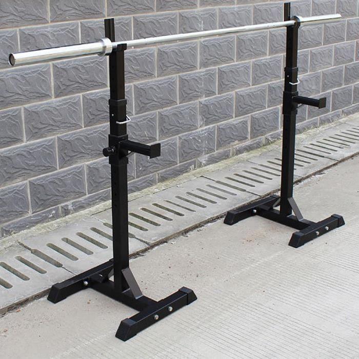 Repose Haltere Reglable Support pour Haltères Rack Barbell Squat Rack Musculation Idéal pour Les Exercices De Renforcement Musculair
