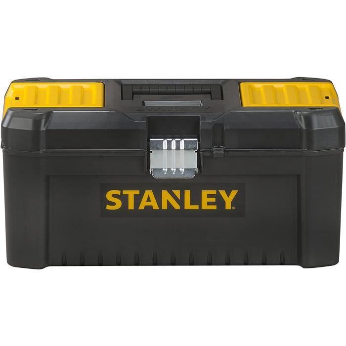 Stanley STST1-75518 Boite À Outils Plastique avec 2 Organiseurs Sur Le Couvercle - Plateau Porte-Outils - Larges Attaches métallique