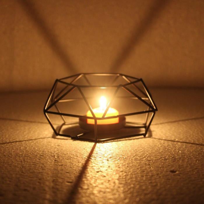 PHOTOPHORE - LANTERNE A BOUGIE Nordic Retro Iron Tea Light bougeoir bougeoir lampe lanterne Home Decor S ZSD90306132S_381