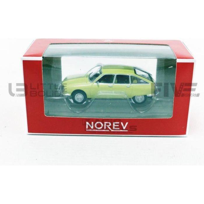 Voiture Miniature de Collection - NOREV 1/64 - CITROEN GS - 1970 - Yellow Primevere - 310915