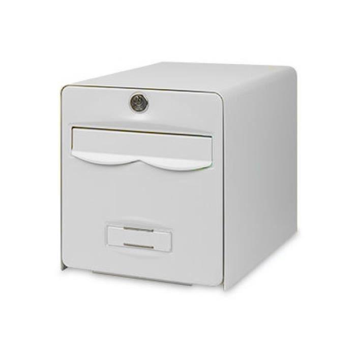 BURG WACHTER Boîte aux lettres Balthazar en acier galvanisé - 2 portes - Blanc