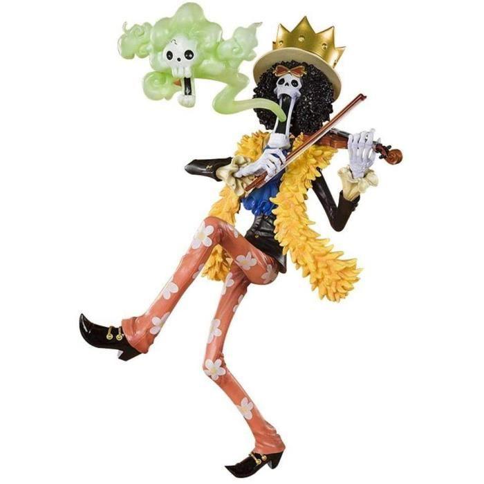 GUANGHHAO One Piece Brook Musicien Anime Figure 23 CM-Nouveau Monde Roi de l'âme-Figurine décoration Ornements Objets de Collec A605