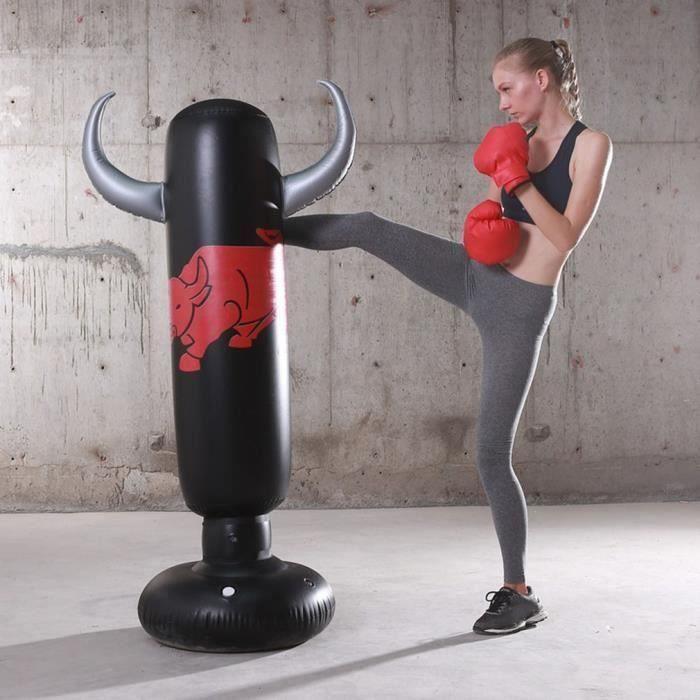 Gonflable sac de Frappe Punching Colonne Vertical Colonne de frappe Boxe Enfants Adulte Jouet Kick -1.6M