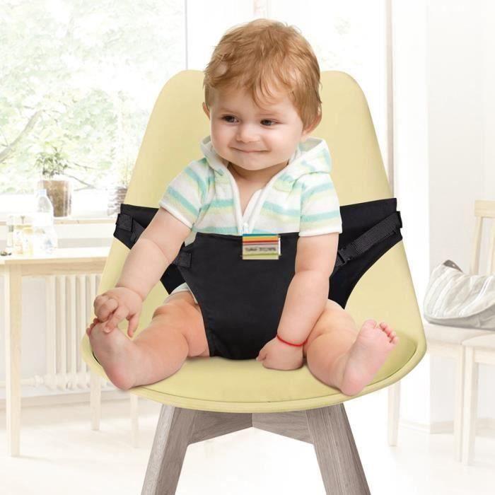 REMYCOO® Chaise Haute Portable Bébé Chaise Voyage pour Sécurité Chaise haute sécurité Chaise Harnais