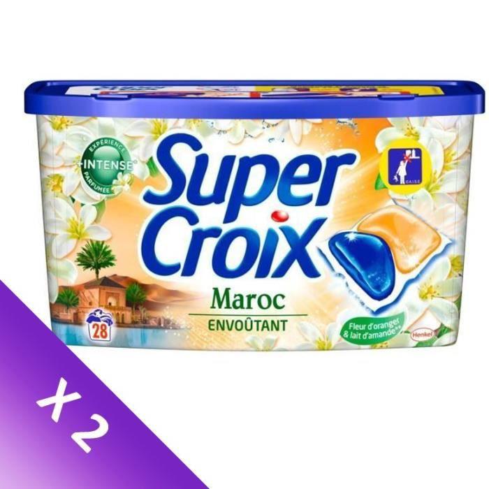 SUPER CROIX Lessive Duo-Caps Maroc - 28 doses - Lot de 2