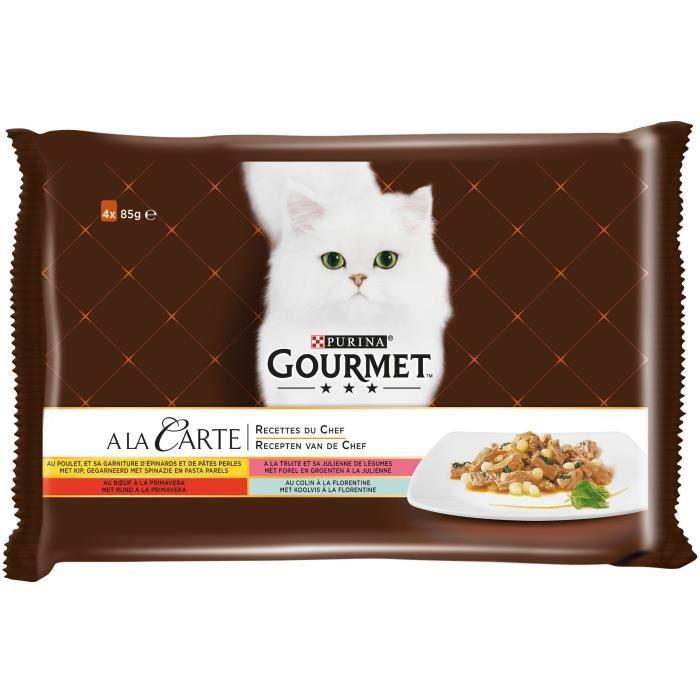 GOURMET Pâtée pour chat au poulet - 4x85g