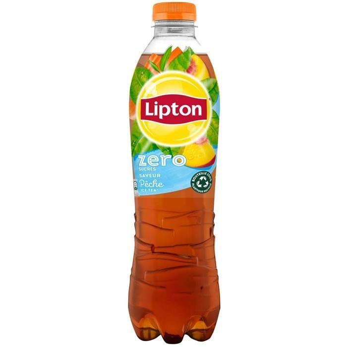 LOT DE 2 - LIPTON Ice Tea Zéro - Boisson aux extraits de thé arôme pêche - 1,5 L