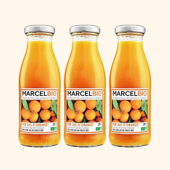 Marcel Bio - Pur jus d'orange Bio 25cl - Pack de 3